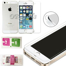 Front+Back Real Tempered glass Screen Protector Film Cover For Apple iphone SE 5