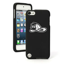 For Apple iPod Touch 4th 5th 6th Rubber Hard Case Cover Fire Fighter Helmet