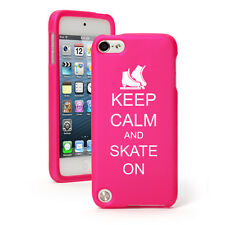 For Apple iPod Touch 4th 5th 6th Rubber Hard Case Cover Keep Calm Ice Skate On