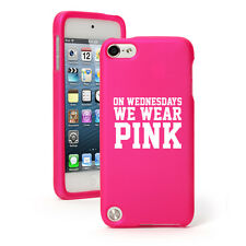 For Apple iPod Touch 4th 5th 6th Rubber Hard Case Cover Wednesdays We Wear Pink