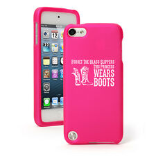 For Apple iPod Touch 4th 5th 6th Rubber Hard Case Princess Wears Boots Cowgirl