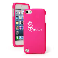 For Apple iPod Touch 4th 5th 6th Rubber Hard Case Cover Queen with Crown