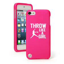 For iPod Touch 4th 5th 6th Rubber Hard Case Cover Throw Like A Girl Softball