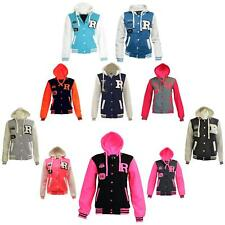 NEW KIDS GIRLS BOYS BASEBALL HOODED JACKET HOODIE R FASHION FOX 61 SIZE 2-13YEAR