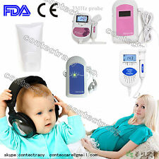 Handheld Baby Monitor Fetal Heart Rate Doppler,prenatal heart monitor.gel,CONTEC