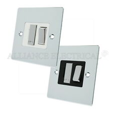 Polished Mirror Chrome Flat Switched Fused Spur - 13 Amp Fused Connection Unit