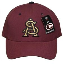 New! Arizona State University Sun Devils Curved Bill Fitted Hat Embroidered Cap