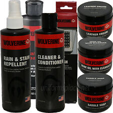 Wolverine Shoe Care Leather Stain Cleaner, Conditioner, Mink Oil, Brush, Cream..