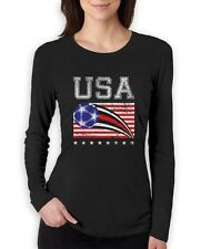 USA Womens Soccer Ball | Flag World Championship 2015 Women Long Sleeve T-Shirt