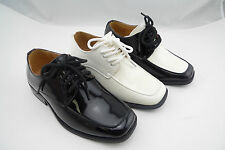 Luna Shoes Boys' Patent Leather Formal Dress Tuxedo Lace Up Oxford Size 9-5
