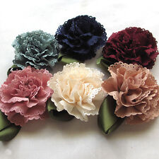 6/18/90PCS Fabric Ribbon Flowers Bows Appliques Wedding Decor Craft Mix A0444
