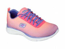 Skechers EQUALIZER-EXPECT MIRACLES Womens Ladies Lace Up Trainers Pink/Purple