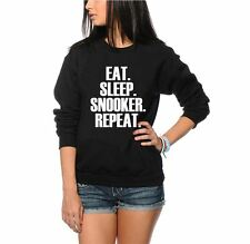 Eat Sleep Snooker Repeat Jumper - Player Youth and Womens Sweatshirt