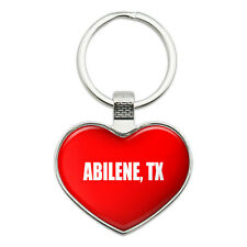 Metal Keychain Key Chain Ring I Love Heart City State A-B
