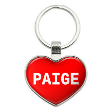 Metal Keychain Key Chain Ring I Love Heart Names Female P Page