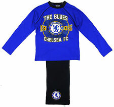 Boys Official CHELSEA FC The Blues 1905 Long Cotton Pyjamas 4 to 12 Years NEW