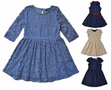 New Girls Dress Lace Skater Party Summer Dress Various Styles George 3-13 Years
