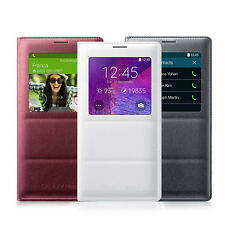 OEM Samsung S View Window Flip Cover Folio Case For Samsung Galaxy Note 4