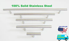 Solid Stainless Steel Pull T Bar Kitchen Cabinet Handle Cupboard Drawer Knob