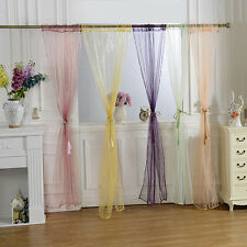 19 Colors Door Window Curtain Drape Panel or Scarf Assorted Scarf Sheer Voile