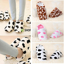 Stylish Womens Mens Warm Winter Warm Comfort Antiskid Indoor Home Cotton Slipper