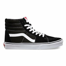 Vans Sk8-Hi Black White ALL SIZES Men Sizes Canvas Shoes Hi-Tops