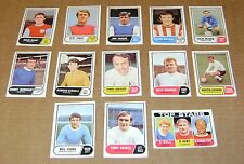 MULTI-LIST SELECTION OF SINGLE VINTAGE 1969 A&BC GREENBACK FOOTBALL GUM CARDS