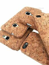 Unique Hard Natural Cork Case 1-Piece Cover For Apple, Samsung, HTC Phones