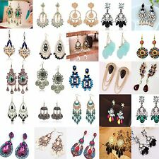 Up Fashion Women Elegant Crystal Rhinestone Ear Stud Dangle Earrings New