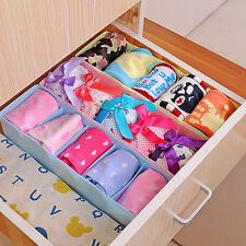 Plastic Storage Box Tie Bra Socks Underwear Organizer Case Desk Drawer Divider