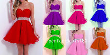 2015 New Cheap Homecoming Dresses Mini Prom Party Bridesmaid Gown Stock Size2-16