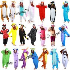 NEW Womens Mens Cartoon Pajamas Kigurumi Cosplay Costume Animal Onesie Sleepwear