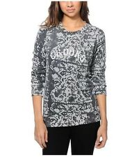 NEW CROOKS & CASTLES WOMENS XS S M SNAKE PRINT CREWNECK SWEATSHIRT SWEATER
