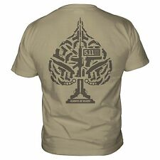 5.11 Tactical Ace of Blades Cotton Graphic Tee Shirt M,L,XXL 2nd Amen Knife