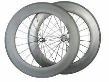 700c 88mm clincher full carbon fiber racing bike wheels bicycle for shimano