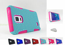 Samsung Galaxy Note Edge | Rubberized Mesh Hard/Soft Phone Case Cover+PryTool