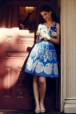 NWT Anthropologie Tracy Reese Azure Lace Dress 4 Dazzling Color, Feminine Charm