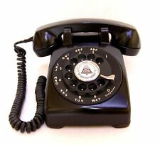 Vintage Western Electric Rotary Dial Bell Telephone 1958 Art Deco Desk Phone