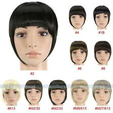 New front neat bangs Clip in clip on Bang fringe Synthetic hair extensions