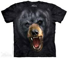 AGGRESSIVE BLACK BEAR ADULT T-SHIRT THE MOUNTAIN