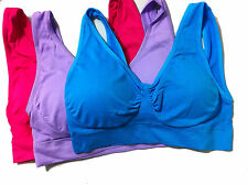 GENIE Sport Yoga BRA Blue&Purple&Red 3 PCS/LOT with Removable Pads