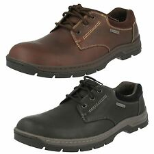 Clarks Mens Leather GTX Lace Up Shoes Stanten Walk