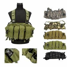 New Military Paintball Tactical Front Chest Rig Airsoft Combat Vest Woodland