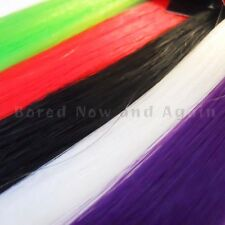 """8"""" and 18"""" Clip in Colour Hair Streaks Extensions Gothic Glamour/Punk/Halloween"""