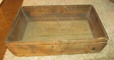 ANTIQUE SATIN GLOSS STARCH WOODEN BOX Corn Products Refining Co.