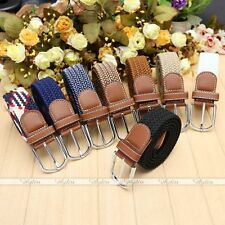 Army Style Pin Buckle Military Mens Sports Web Canvas Belts  Leather 8 Colors