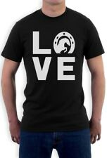 Love Horses - Animal Lover Rearing Horse - Horseshoe T-Shirt Horse Racing