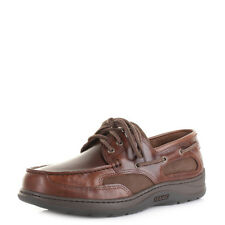 Mens Sebago Cloverhitch 2 Medium Brown Leather Boat Deck Shoes Uk Size