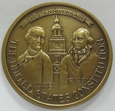 1787 We The People The United States Constitution Medallion / Medal