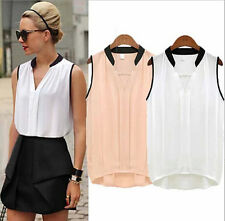 Fashion Women Summer Casual Sleeveless T-Shirt Chiffon Loose Vest Tank Blouse